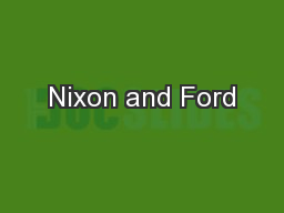 Nixon and Ford