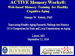 ACTIVE Memory Works