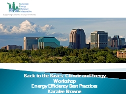 Back to the Basics: Climate and Energy Workshop