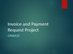 Invoice and Payment Request Project