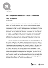 SLQ Young Writers Award  Highly Commended Ziggy the Ba