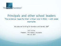 Principals and other school leaders