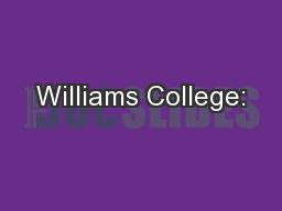 Williams College: