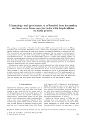 Mineralogy and geochemistry of banded iron formation a