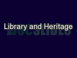 Library and Heritage