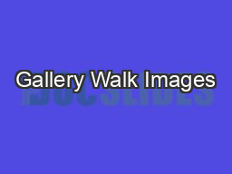 Gallery Walk Images