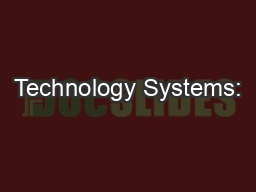 Technology Systems: