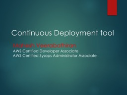 Continuous Deployment tool