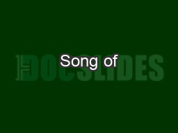 Song of