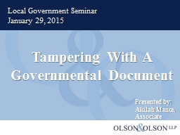 Tampering With A Governmental Document PowerPoint PPT Presentation