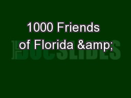 1000 Friends of Florida &
