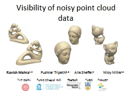 Visibility of noisy point cloud data