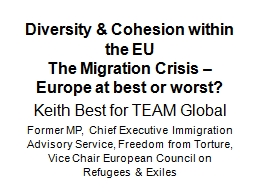 Diversity & Cohesion within the EU PowerPoint PPT Presentation