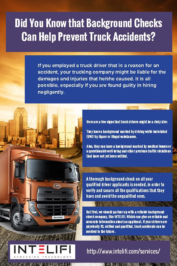 Did You Know that Background Checks Can Help Prevent Truck Accidents?