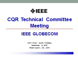 CQR Technical Committee Meeting PowerPoint PPT Presentation