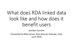 What does RDA linked data look like and how does it benefit