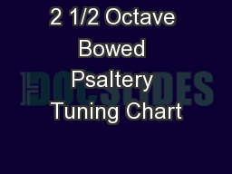 2 1/2 Octave Bowed Psaltery Tuning Chart PDF document