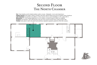 Second Floor he No th Chamber Use  A bed chamber used