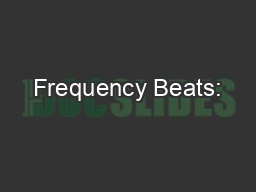 Frequency Beats: