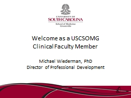 Welcome as a USCSOMG