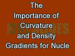 The Importance of Curvature and Density Gradients for Nucle