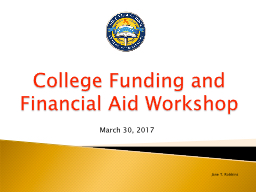 College Funding and Financial Aid