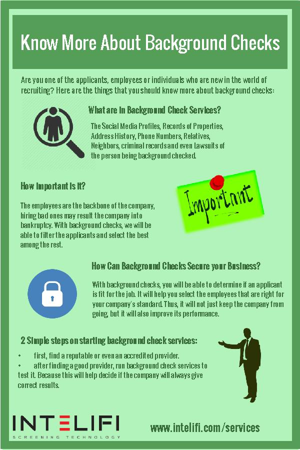 Know More About Background Checks