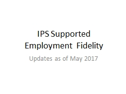 IPS Supported Employment Fidelity