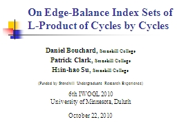 On  Edge-Balance Index Sets of L-Product of Cycles by Cycle