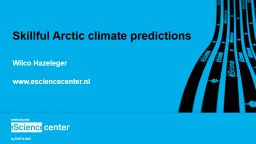 Skillful Arctic climate predictions