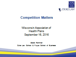 Competition Matters PowerPoint PPT Presentation