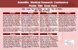 Scientific Medical Research Conference