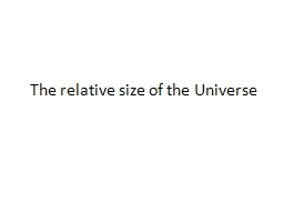 The relative size of the Universe