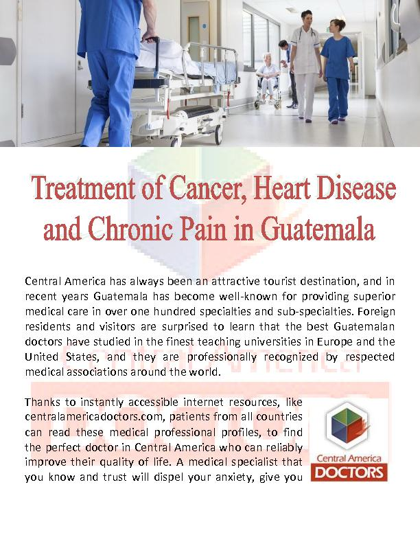 Oncologist Cancer Specialist Guatemala