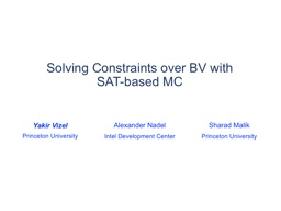Solving Constraints over BV with SAT-based MC