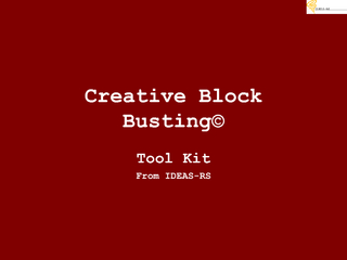 Creative Block Busting Tool Kit From IDEAS RS  Creativ