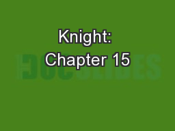 Knight: Chapter 15