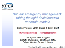 Nuclear emergency management: