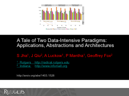 A Tale of Two Data-Intensive Paradigms: Applications, Abstr PowerPoint PPT Presentation
