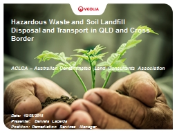 Hazardous Waste and Soil Landfill Disposal and Transport in