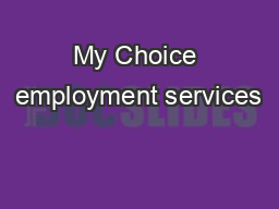 My Choice employment services