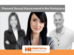 Prevent Sexual Harassment in the Workplace