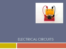 Electrical Circuits Electricity and Circuits