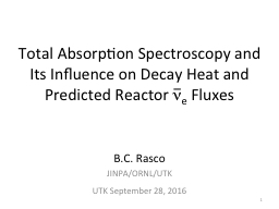 Total Absorption Spectroscopy and Its Influence on Decay Heat and Predicted Reactor