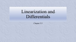 Linearization and Differentials