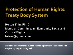 Protection of Human  Rights: