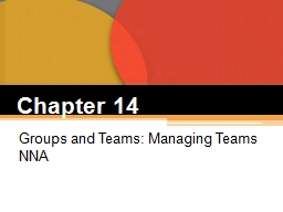 Chapter  14 Groups and Teams: Managing
