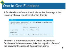 Injections A function is