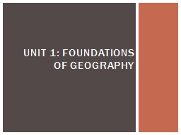 UNIT 1: FOUNDATIONS OF GEOGRAPHY PowerPoint PPT Presentation