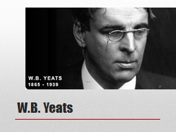 W.B. Yeats 5A: English M1: The Great Gatsby